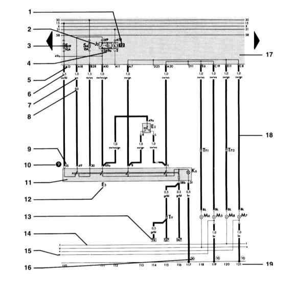 Обозначения на электрических схемах.  1 - реле Обозначает место реле на плате реле.