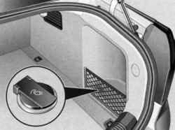 Розетка на 12 вольт расположенная в багажнике