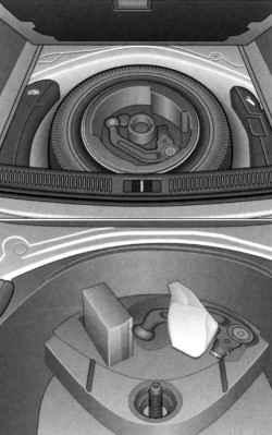 Запасное колесо с тягово-спепным устройством и аптечка для ремонта шин