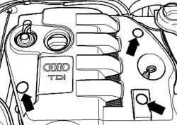 Клипсы защитных колпачков крышки двигателя