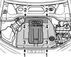 Снятие крышки двигателя