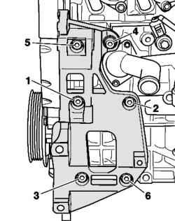 Болты крепления кронштейна дополнительных агрегатов