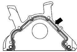 Схема нанесения герметика на контактную поверхность фланца