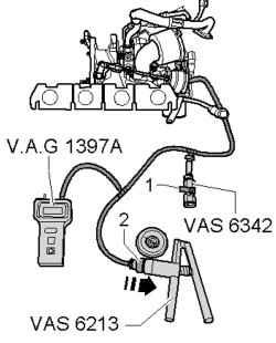 Установка ручного вакуумного насоса