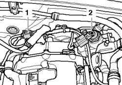 Штекерный разъем клапана регулятора давления топлива