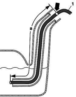 Схема откачки топлива из бака