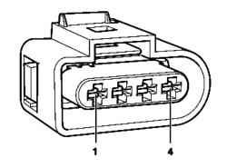 Контакты 1 и 4 разъема топливного насоса