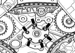 Болты крепления щита заднего подшипника балансирного вала