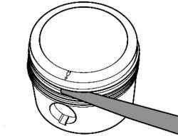 Проверка зазора поршневых колец по высоте