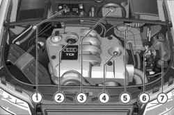 Компановка подкапотного пространства 4-цил индрового дизельного двигателя