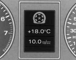 Индикация умеренной потери давления воздуха