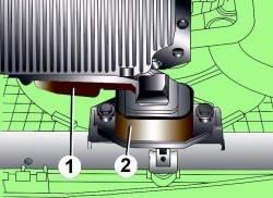 Расположение опоры компенсатора крутящего момента двигателя
