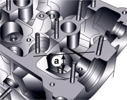 Минимально допустимое расстояние от торца клапаны до верхней поверхности головки блока цилиндров
