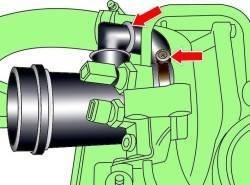 Крепление труб к турбокомпрессору