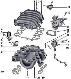 Дроссельный узел и система переключения впускного коллектора