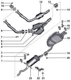 Система выпуска отработавших газов автомобилей с дизельными двигателями