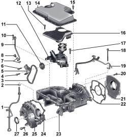 Верхняя секция масляного поддона дизельного двигателя 3,3 л