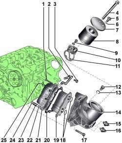 Масляный фильтр и теплообменник бензиновых двигателей 3,7 и 4,2 л