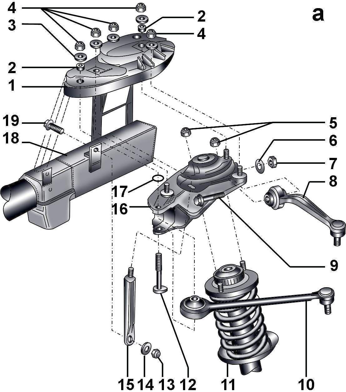 передняя подвеска ауди а6 45 кузов схема