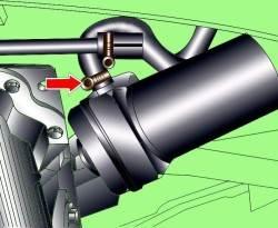 Расположение масляного фильтра на бензиновых двигателях V6