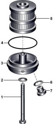 Элементы масляного фильтра восьмицилиндрового бензинового двигателя
