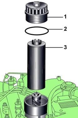 Масляный фильтр дизельного двигателя V6 TDI