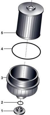 Масляный фильтр дизельного двигателя 3.3l V8 TDI