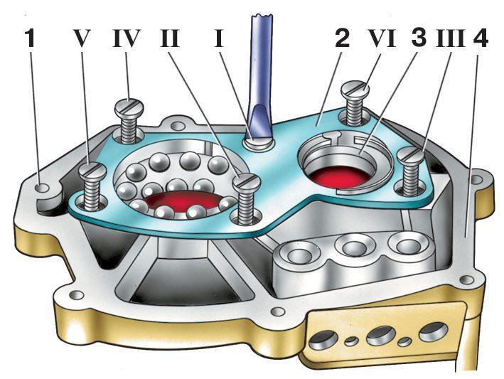 Прерывателя-распределителя, 7 - распорная втулка, 8 рис 10коленчатый вал двигателя москвич-412