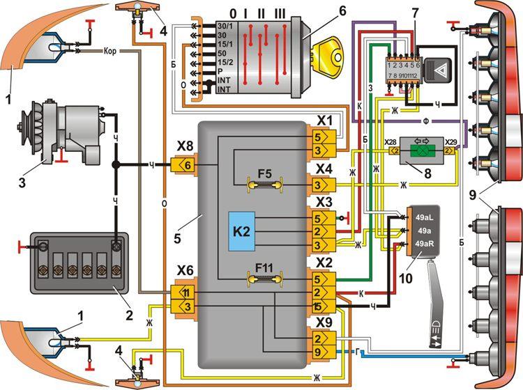 Электрические схемы камаз 14
