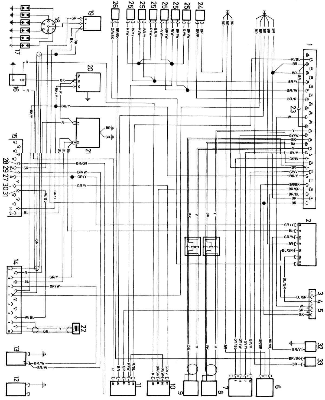 1 - Блок электронного управления (ECU) 2 - Реле управления скоростью 3 - Датчик температуры 4 - Кондиционер 5...