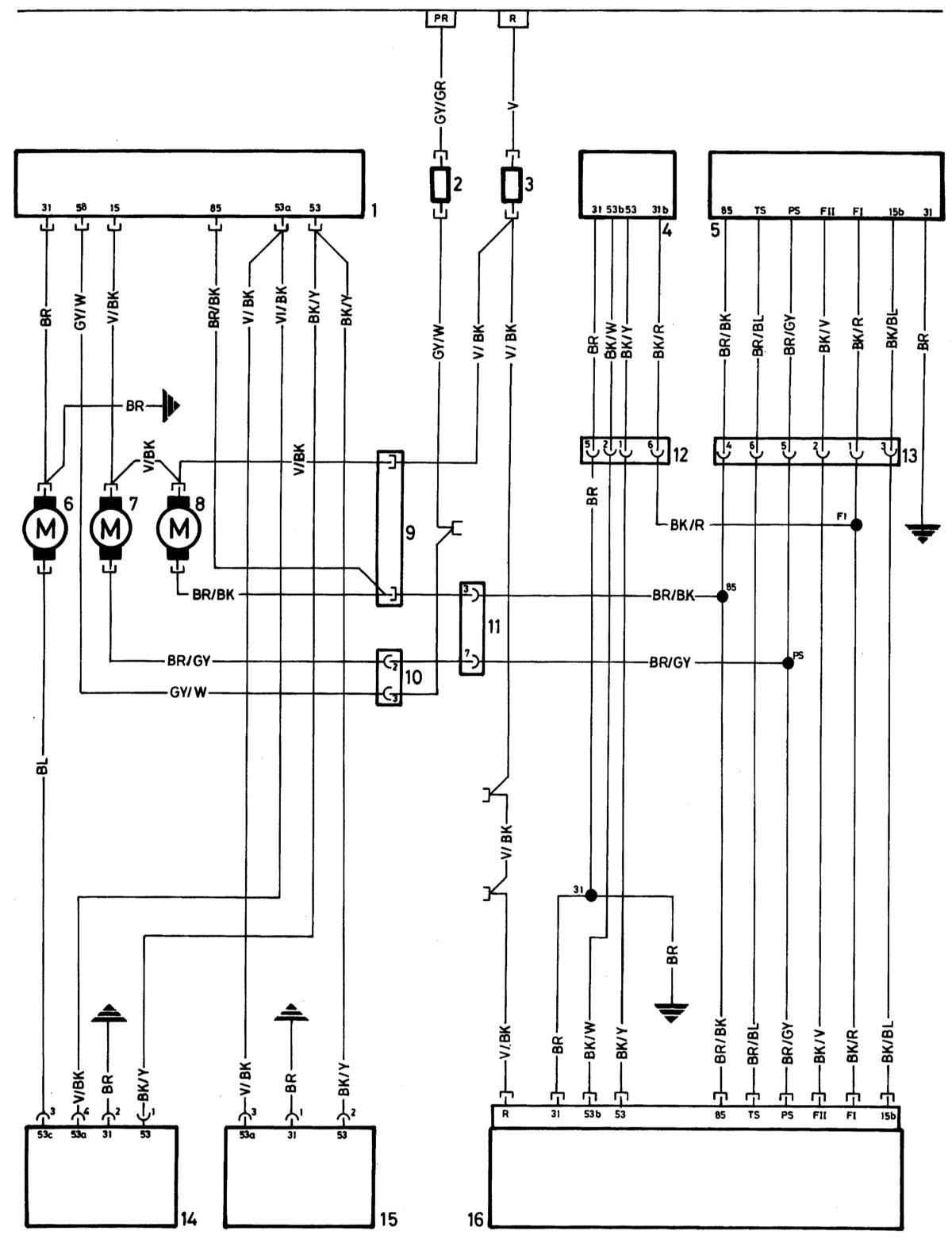 схема управления стеклоочистителя заднего стекла vw