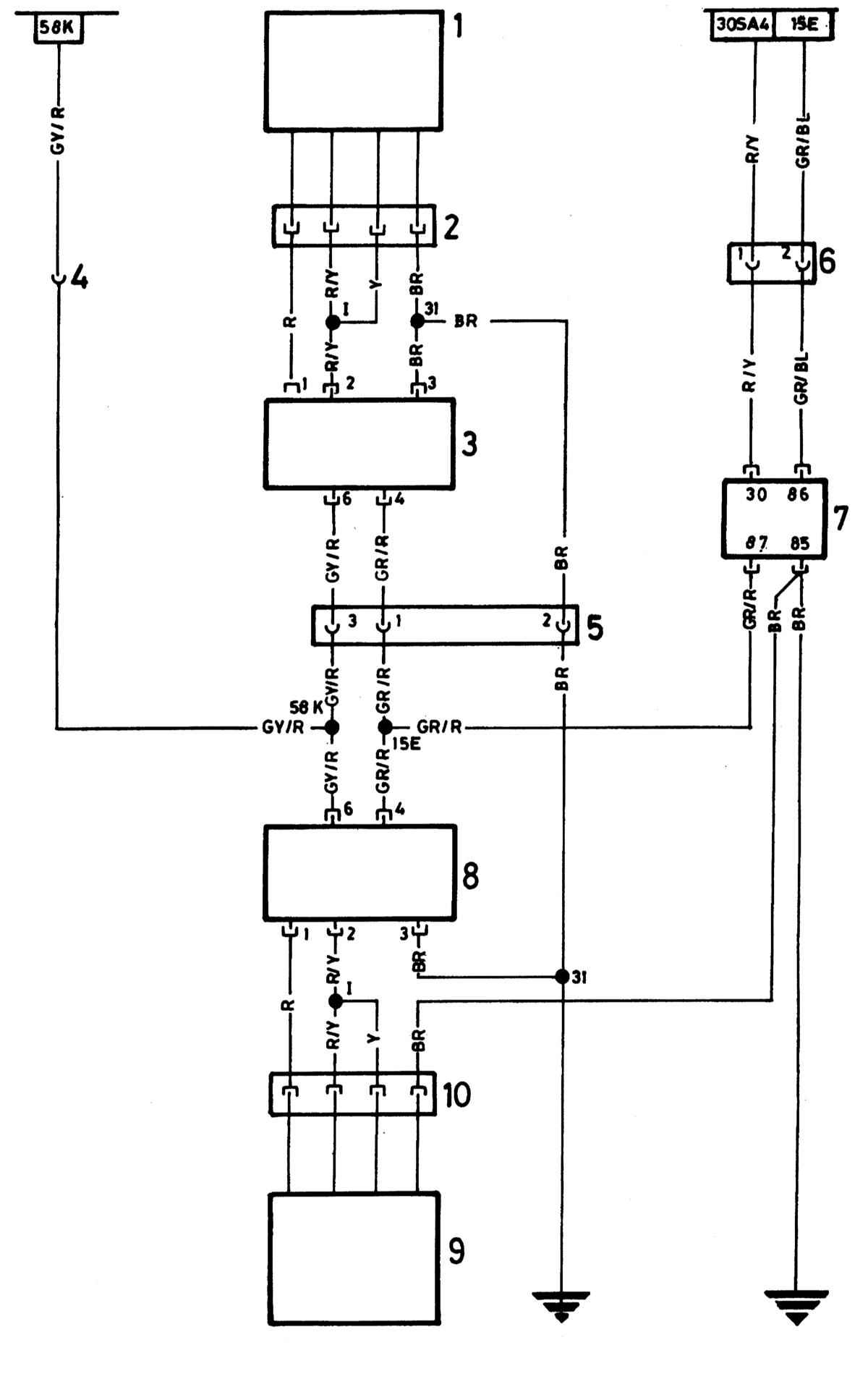 6 - Штекер провода подогрева сиденья (сторона водителя) к штекеру для подключения специального оборудования (15Е и...