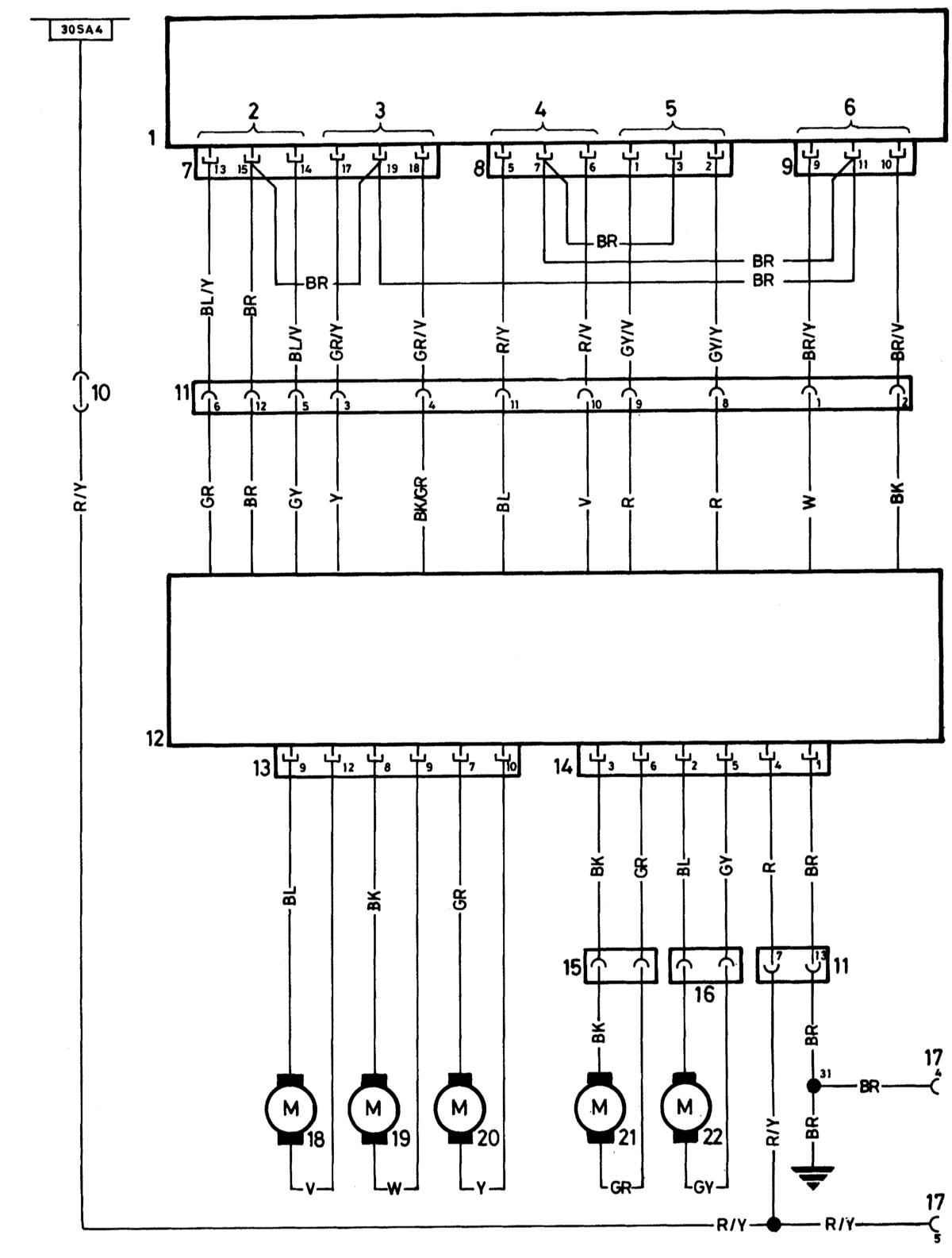6 - Заднее сиденье вверх/вниз.  1 - Штекерное соединение для подключения специального оборудования.