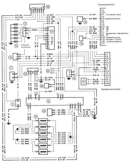 электрические схемы. схемы проводки на камаз 5410.