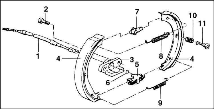 Бмв е39 схема ручника