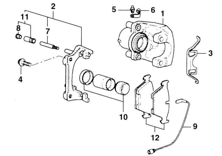 Снятие и установка тормозных