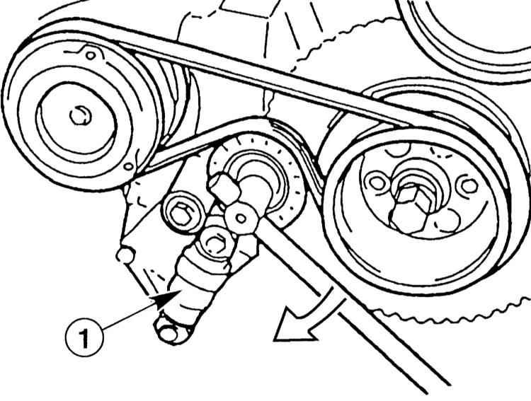 установка ремня кондиционера на м54 только
