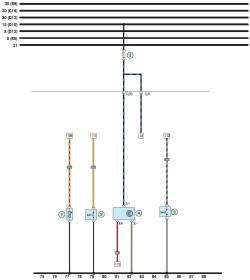 ...(10 А) датчика скорости; 4 - датчик скорости; 5 - выключатель сигнальной лампы включения стояночного тормоза.