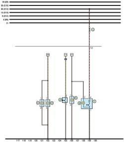 Схема 8. Передние противотуманные фары, прикуриватель, сигнальная лампа включения кондиционера.