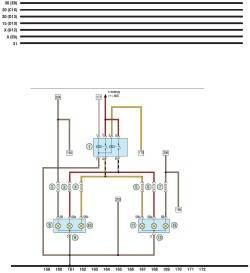 Схема 11.  Передние фары, реле фар, передние указатели поворота.