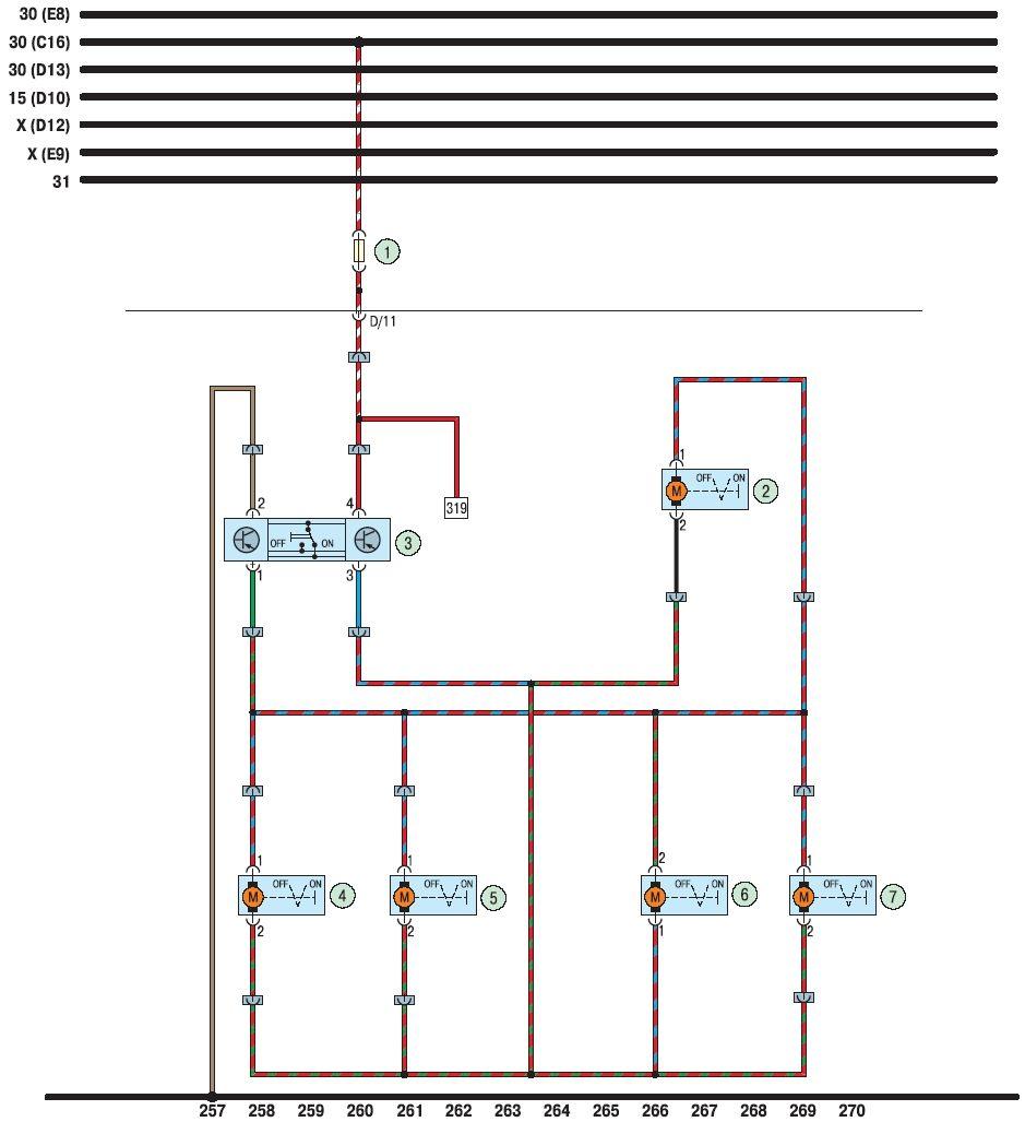 Схема для центрального замка ваз