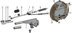 Детали привода стояночного тормоза