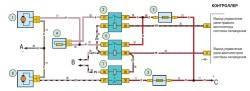Схема включения электродвигателей вентиляторов системы охлаждения