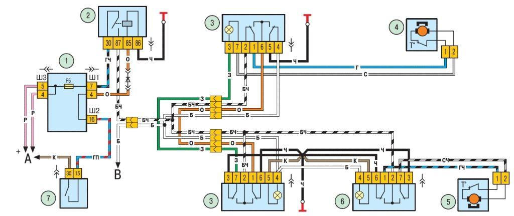 нива шевроле схема подключения стартера