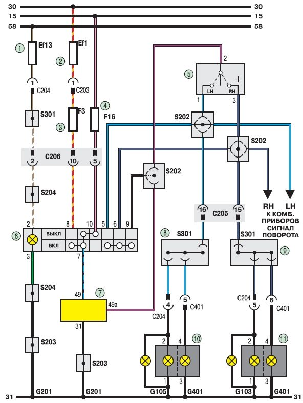 ауди 80 схема освещения приборов - Все об Ауди и для Audi.