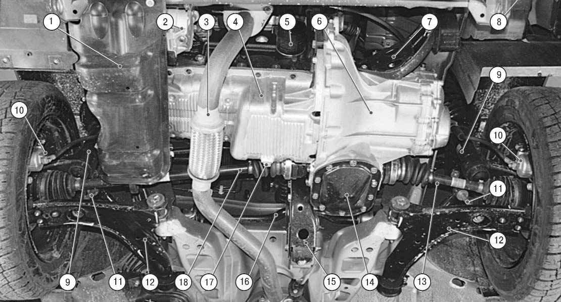 Lanos II Подкапотное пространство (вид снизу) — Chevrolet Lanos, клуб Chevrolet Lanos.