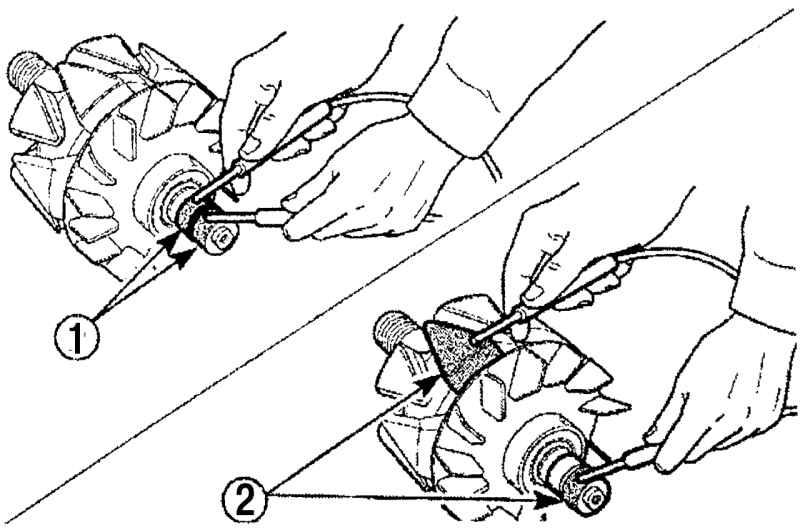 При проверке замыкания показание омметра должно быть достаточно высоким, или ротор.
