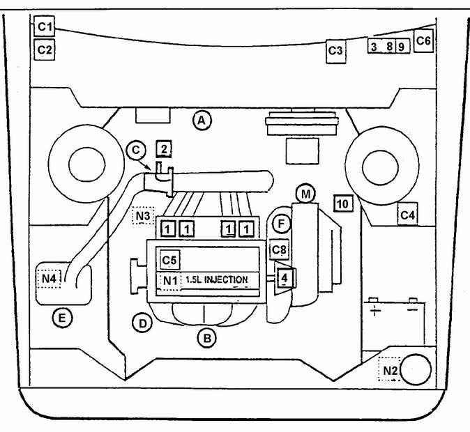 Daewoo схема электрическая принципиальная системы зажигания эбу типа iefi 6 daewoo nexia дэу нексия Электрическая...