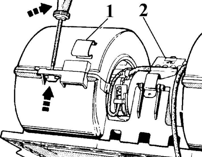 1 - скоба соединения корпуса.  2 - резистор.