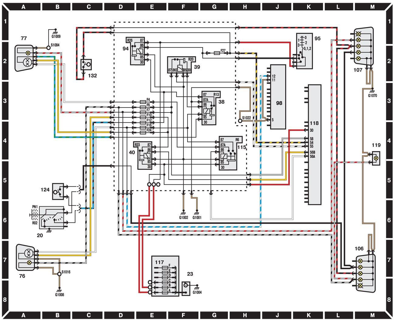 схема электропроводки форд сиера бензин 2 литра